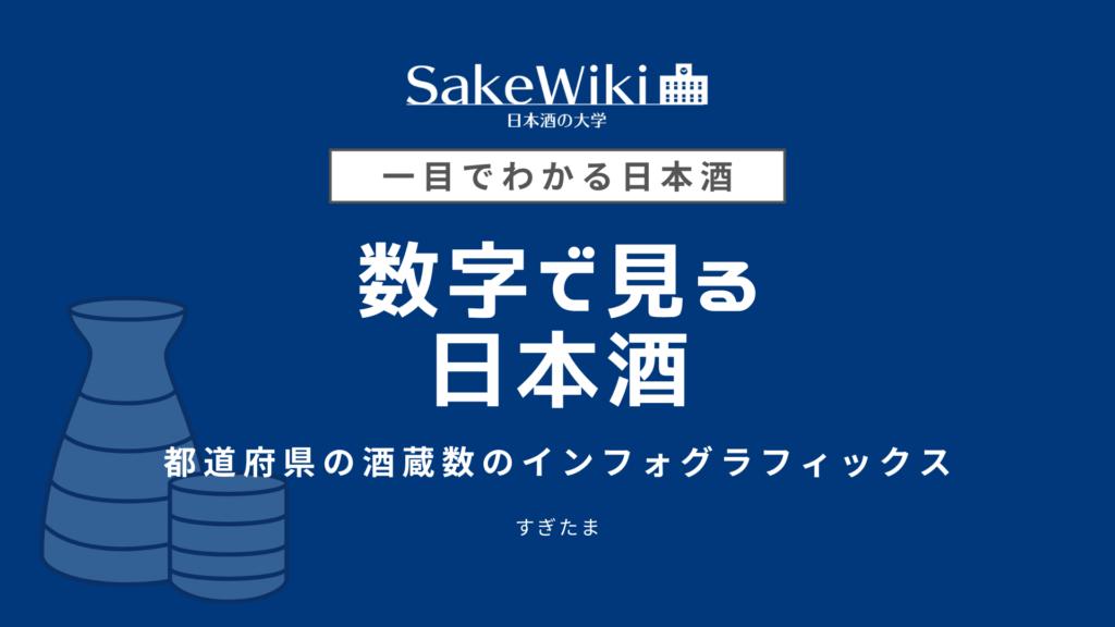 【数字で見る日本酒】日本全国の日本酒の酒蔵の数はどれぐらい?のアイキャッチ画像